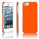 [正規品]araree - half series for iPhone5S/5 - iPhone5のデザインにピッタリなハーフタイプ/ ICカード一枚収納可能 (オレンジ)