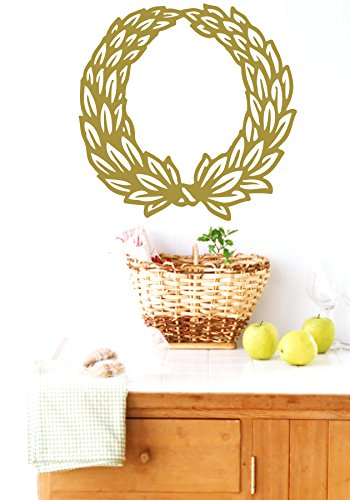 Wall Vinyl Sticker Decal Wreath Of Leaves Nursery Room Nice Picture Decor Mural Hall Wall Ki510 front-1071485