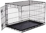 AmazonBasics Single-Door Folding Metal Dog Crate - Medium...