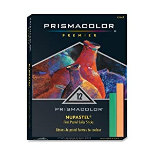 Prismacolor Nupastel Colored Pastel Sticks,  Set of 12 Assorted Colors  (27048)