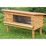 Woodland-603334AM-Clapier pour Rongeur et Lapin Logy XL-en Bois Sapin- L 120 x l 47 x H 66 cm