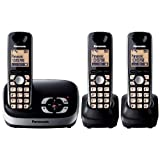 Panasonic KX-TG6523EB DECT Trio Digital Cordless Phone Set with Answer Machine - Blackby Panasonic