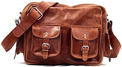 LE MULTIPOCHES couleur naturel Sacoche bandoulière en cuir style Vintage (A4) PAUL MARIUS