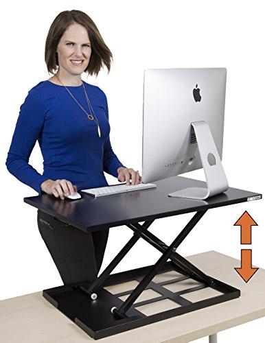 Standing Desk - X-Elite Pro Height Adjustable Desk Converter - Size 28in x 20in Instantly Convert any Desk to a Sit / Stand up Desk (Black) Adjustable Workstation
