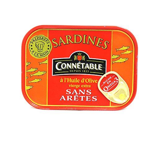 Connetable sardines a l'huile d'olive sans arete 115g