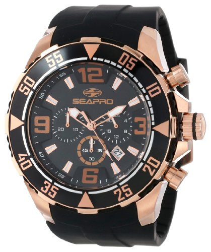 Men's Watches - Seapro Men's SP1121 Diver Chronograph Analog Watch for ...