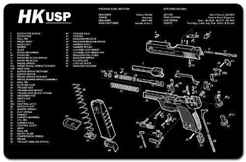 Heckler & Koch HK USP Gun Cleaning Armorers Bench Mat
