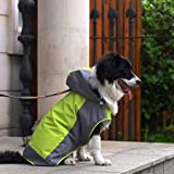 Rain Coat for Medium to Large Dogs Pet Poncho Rain Slicker (Green, 12)