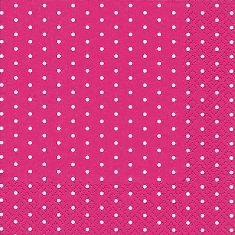 60 Tovaglioli Mini Dots berry 33 x 33 cm 3-strati di carta, Lunch Tovaglioli
