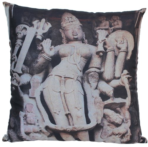 Souvnear Holiday Gifts - Unique Pillowcases - Large 18 X 18 Inch Square Throw Pillow Cover - Indian Goddess Print With Hidden Zippers For Your Couch, Sofa, Ottoman, Rocking Chairs And Beds - Decorative Cushion Covers For Your Patio, Living Room, Family Ro