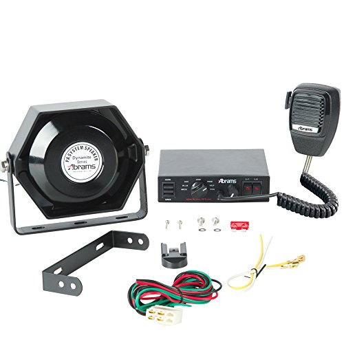 Abrams-UltraRange-Kit-100W-Siren-PA-System-Set-with-Mechanical-Tones-Comes-with-PA-Microphone-100W-Ultra-Siren-Speaker