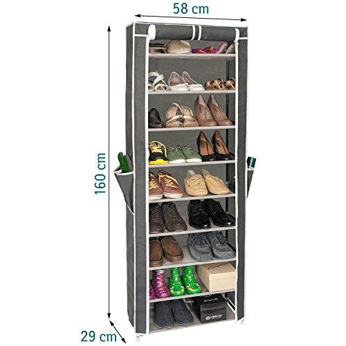Artmoon Carrie Porte-chaussures pour 27 Paires avec Housse de Protection Imperméable 9 Couches
