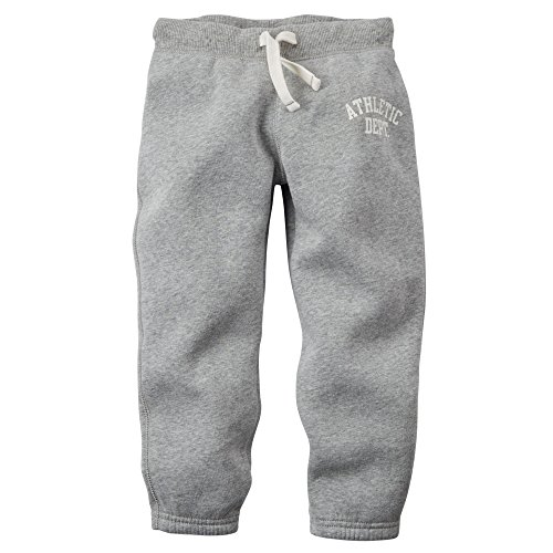 Carter's Little Boys Fleece Jogger Pants (3T, Heather)