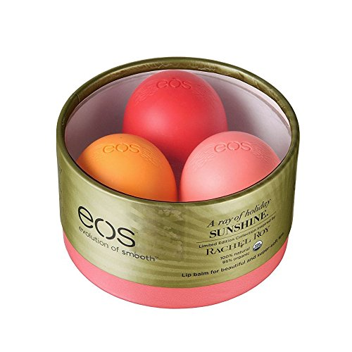 EOS Limited Edition Lip Balm Trio Rachel Roy Edition - Pink Grapefruit - Strawberry Kiwi - Orange Bl..