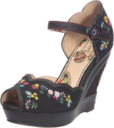 Miss L Fire Women's Homemaker Black Wedges Heels HOMBLK41 8 UK, 41 EU