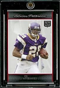 2007 Bowman # 126 Adrian Peterson (RC) - Minnesota Vikings - NFL Trading Football... by Topps