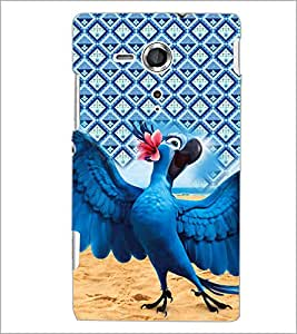 PrintDhaba Cartoon D-5998 Back Case Cover for SONY XPERIA SP (Multi-Coloured)