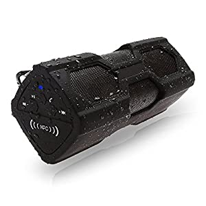 ELEGIANT Tragbare Mini Lautsprecher Portable Outdoor Sport Boombox Bluetooth Stereo V4.0 Wasserdicht Staubdicht Stoßfest NFC Lautsprecher Speaker 2 in 1 Funktionen mit 3600MAH power bank