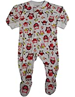 Sara's Prints - Baby Girls Long Sleeve One Piece Footed Pajamas