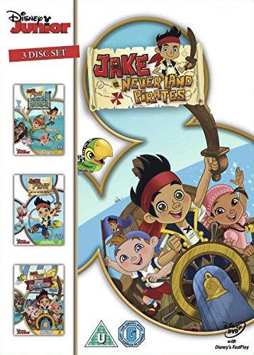 jake-and-the-never-lands-pirates-yo-ho-mateys-away-peter-pan-returns-jake-saves-bucky-triple-pack-dv