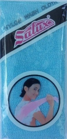 Salux Nylon Japanese Beauty Skin Bath Wash Cloth/Towel - Blue front-58265