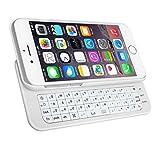 iPhone6/6s用 ケース一体型スライドキーボード ホワイト 4.7インチジャストフィット Bluetooth接続 IP6SKB1