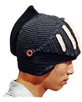 LOCOMO Roman Knight Helmet Visor Cosplay Knit Beanie Hat Cap Wind Mask FFH088BLK