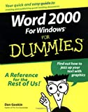 Word 2000 for Windows For Dummies (0764504487) by Dan Gookin
