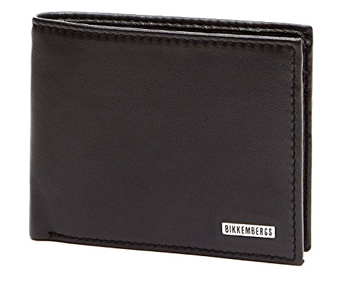 Bikkembergs Portafoglio Uomo Wallet L;eather Black