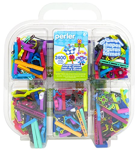 Perler Beads Perler Shapes Fused Bead Kit, Multi Shapes Bucket - 1