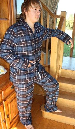 Mens JOCKEY Designer Brushed Cotton Flannel Pyjama nightwear lounge wear Sml