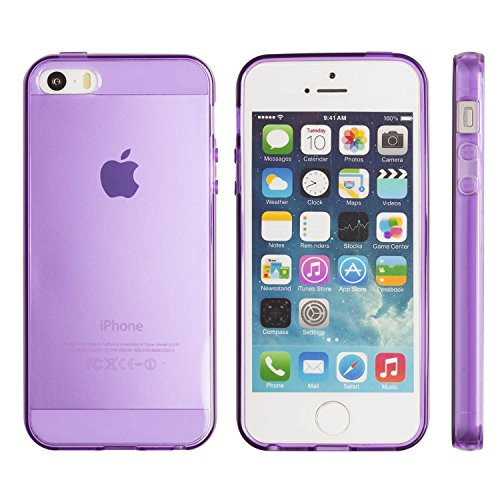iPhone 5S case, Totallee Revealer, Flexible Soft Slim Jelly Transparent TPU Cover for iPhone 5 and 5S (Purple) (Iphone5 Jelly Case compare prices)