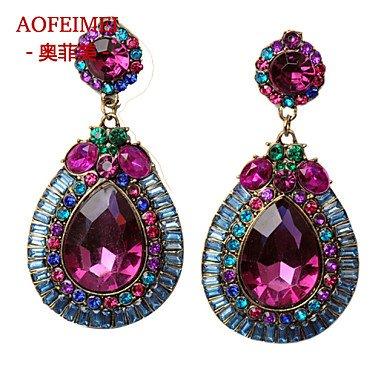 Damen Ohrring Legierung Stud Earrings-Purple online bestellen