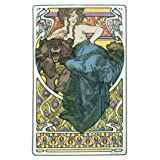 Woman reclining on a Bearskin, by Alphonse Mucha (Print On Demand)
