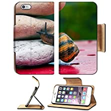 buy Apple Iphone 6 Plus Iphone 6S Plus Flip Pu Leather Wallet Case Snail Crossing A Rock Barrier Image 23667458 By Msd Customized Premium