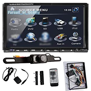 Double 2 Din 7 Car DVD Cd Mp3 Player Touch Screen in Dash Stereo Radio Camera P by GPS