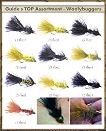 Fly Fishing Flies - Guide's TOP Assortment - WOOLLY BUGGERS (32 flies)