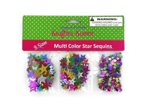 Star-shaped craft sequins - Pack of 48