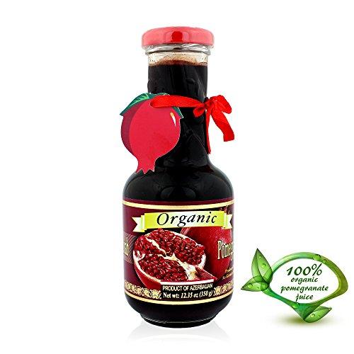 Pow Organic Pomegranate Molasses Sauce 12.35 Oz Glass ...