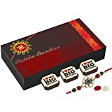Best Rakhi Gift - 6 Chocolate Gift Box - Rakhi With Chocolates