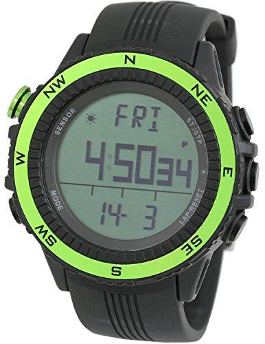 [LAD WEATHER] Watches German Sensor Digital Quartz Compass Altimeter Barometer Chronograph Countdown Timer Lap Time Alarm Outdoor Sport (Climbing/ Hiking/ Running/ Walking/ Camping) Men Women Black Yellow