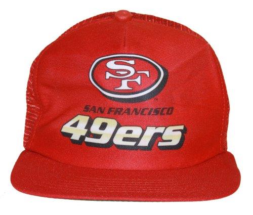 San Francisco 49Ers Nfl New Era Mesh Trucker Snapback Hat Red+Gt Wristband