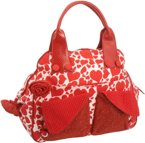 Irregular Choice Flick Flack Kettle Bag Hand Held Hearts ICFLI04 Large