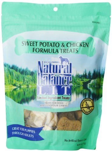 Natural Balance Limited Ingredient Treats Sweet Potato And Chicken Formula For Dogs, 14-Ounce Bag
