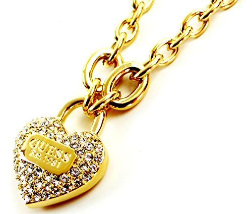 Kette 1818 Guess Damen Halskette Gold mit Kristallen Guess Necklace branded Jewelery Chain Gold thumbnail