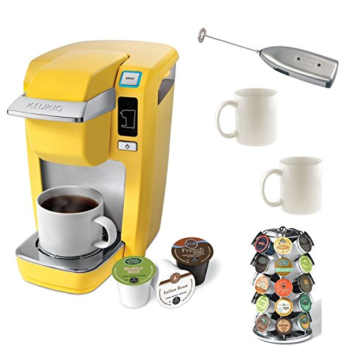 Buy Discount Keurig K10 Mini Brewer (Yellow) B31 with 6 bonus K-cups plus Accessory Bundle