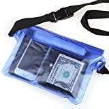 Waterproof Pouch,Waterproof Dry Bag with Waist Strap /Keep Your Cellphone Cash Safe & Dry / Perfect for Boating Swimming Snorkeling Kayaking Beach/ 100% Lifetime Guarantee