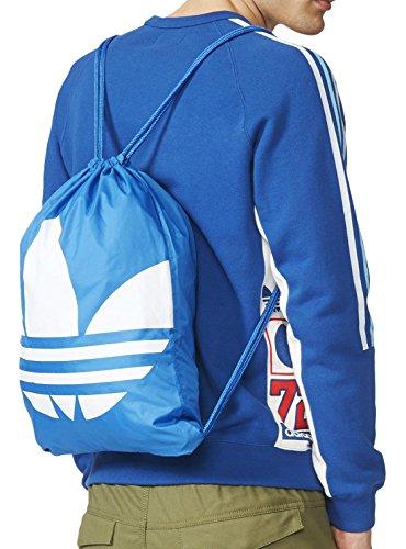 Adidas Gymsack Trefoil - Borsa, Unisex, blu / bianco
