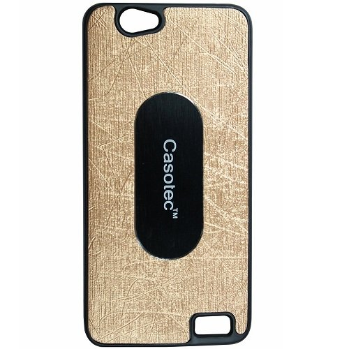 Casotec Metal Back TPU Back Case Cover for Intex Aqua Xtreme - Gold  available at amazon for Rs.119