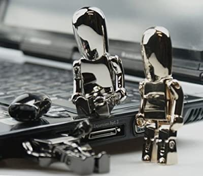 Set of 3 Robots - USB Memory Stick 2GB - Flash Drive/School/Novelty/Gift by Memory Mates
